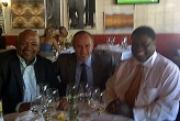 Namibia, Windhoek, Mr Zedekias Gowaseb, Mr Utoni (Minister of Foreign Affair) & Sergio Tommasini